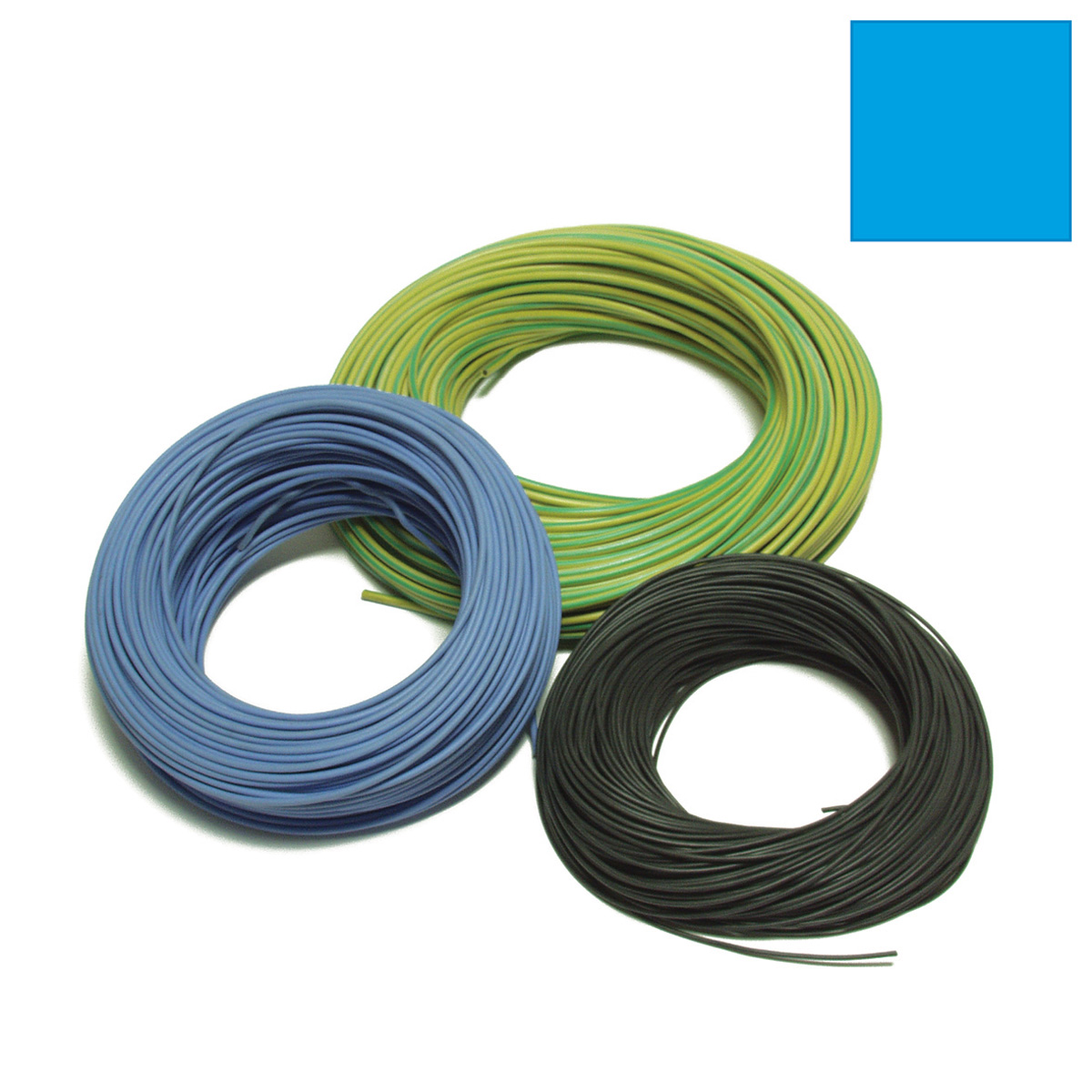 EPDM-SILICONE ELECTRIC CABLE mm 1x2,5 SKY BLUE , Stiro Service s r l